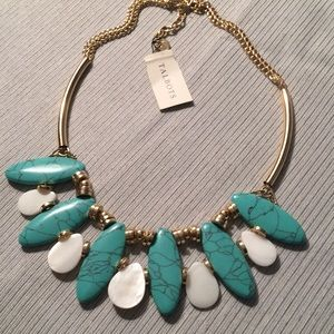 Blue white and gold necklace by Talbot